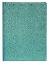 Ежедневник не датированный PERLA, 150*205мм., 144л., бумвинил, линейка, бирюз.
