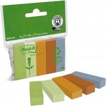 Закладки бумажные 15х50мм. Эко, 5 цветов по 100 листов