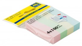 Закладки бумажные 12х51мм., 4 цвета по 100 листов