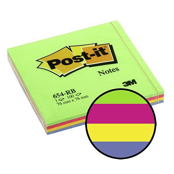 Блок post-it 76*76мм.*100 листов Весна 3M - фото 1