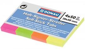 Закладки бумажные 20х50мм., 4 цвета по 50 листов