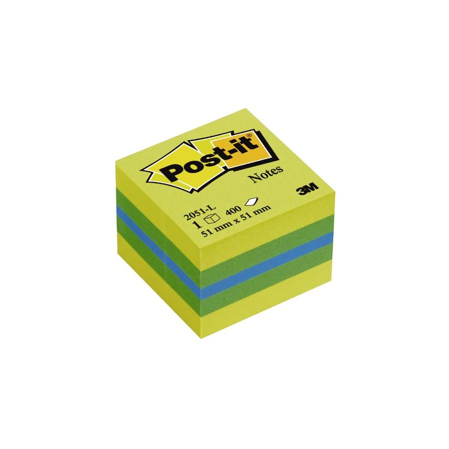 Блок post-it 51*51мм.*400 листов Лимон 3M - фото 1