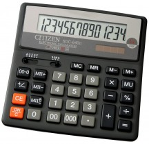 Калькулятор бухгалтерский SDC-640 14 разрядов, 156х156х31мм.
