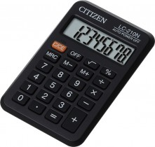 Калькулятор карманный LC-210 8 разрядов, 98,5х64х13мм.