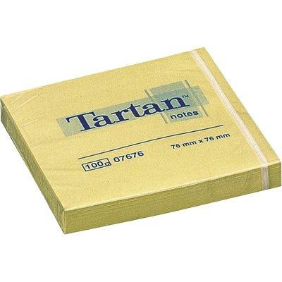 Блок post-it 76*76мм.*100 листов Tartan желт. 3M - фото 1