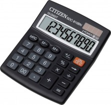 Калькулятор бухгалтерский SDC-810BII 10 разрядов, 125х100х34мм.