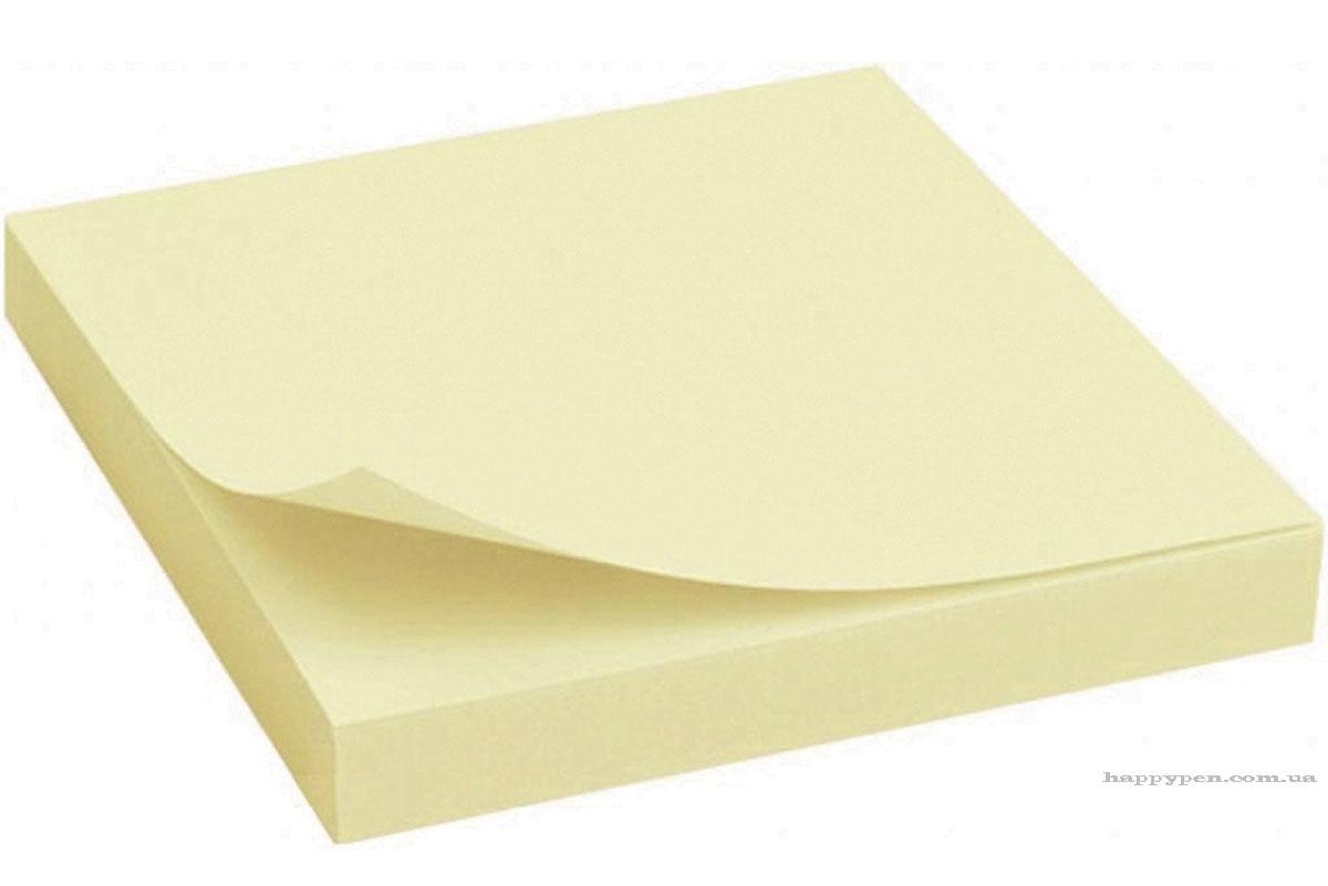 Блок бумаги с клейким слоем 102*76мм.*100 листов, желт. Scholz - фото 2