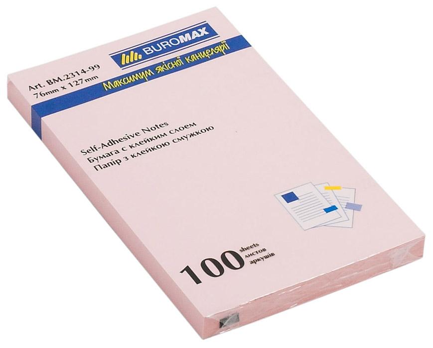 Блок бумаги с клейким слоем 127*76мм.*100 листов mix BuroMax - фото 2