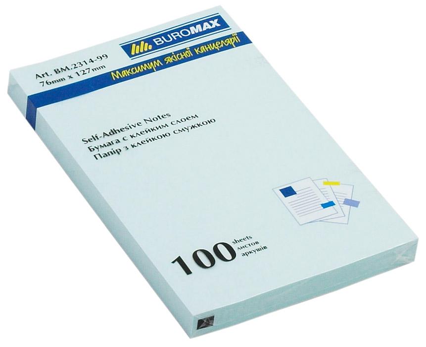Блок бумаги с клейким слоем 127*76мм.*100 листов mix BuroMax - фото 3