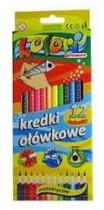 Карандаши цветные 12цв. Premium Kolori Jumbo, треугольные + точилка