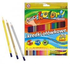 Карандаши цветные 24цв. Premium Kolori, треугольные + точилка