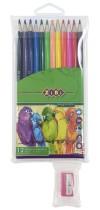 Карандаши цветные 12цв. SMOOTH c точилкой