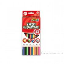 Карандаши цветные 12цв. Kolori Premium Quality, треугольные