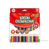Карандаши цветные 24цв. Kolori Premium Quality, треугольные