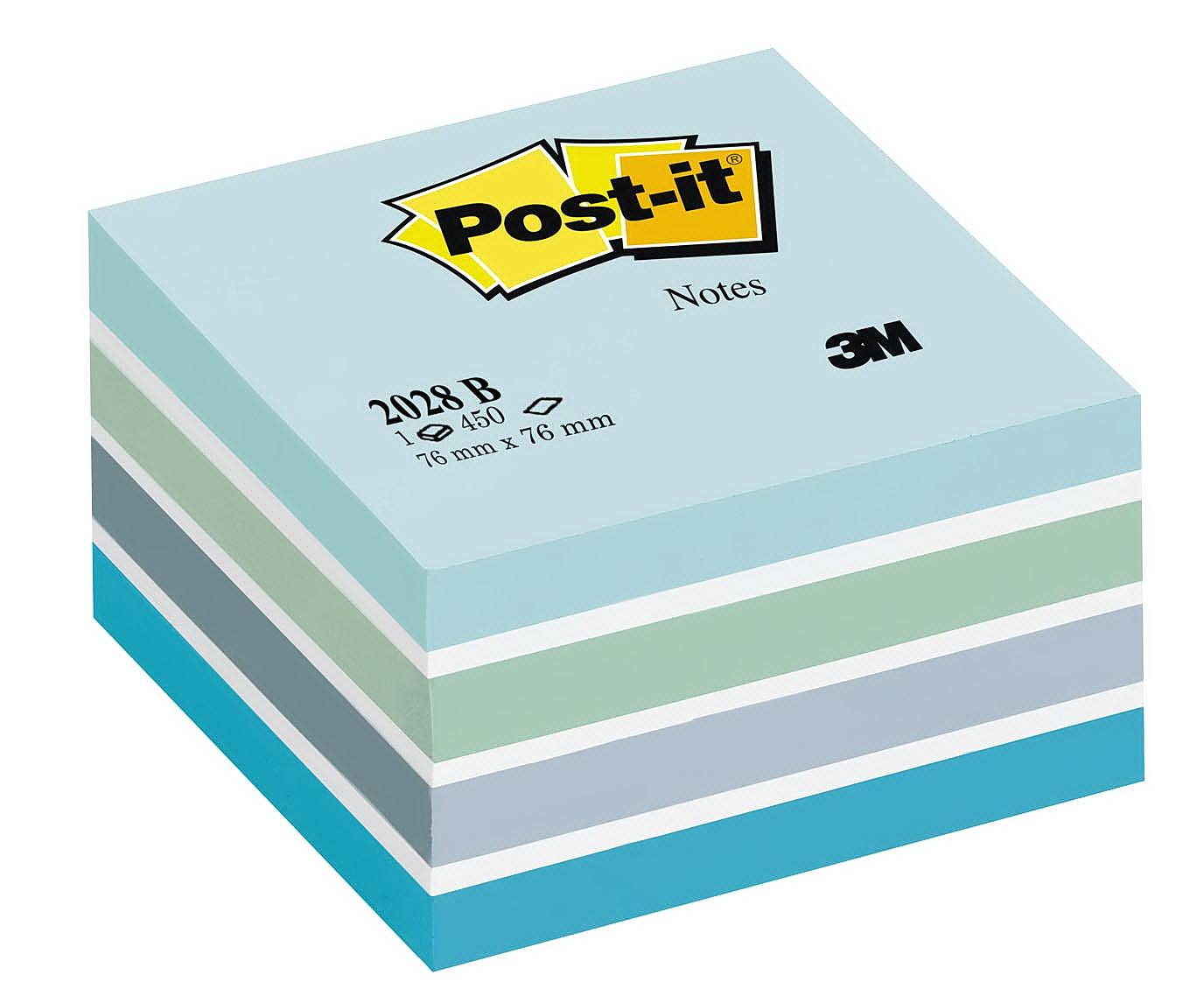 Блок post-it 76*76мм.*450 листов пастельный голуб. 3M - фото 1