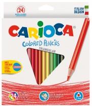 Карандаши цветные 24цв. Triangular, диаметр грифеля 3,5мм., треугольные