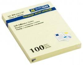 Блок бумаги с клейким слоем 102*76мм.*100 листов желт.
