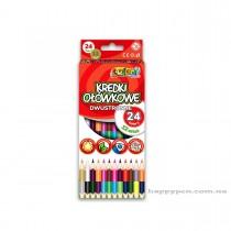 Карандаши цветные двусторонние 12шт/24цв. Kolori Premium Quality, треугольные