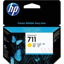 Картридж для струйных устройств HP DesignJet T120/T520, HP 711 (CZ132A), Yellow ориг.