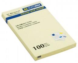 Блок бумаги с клейким слоем 127*76мм.*100 листов желт.