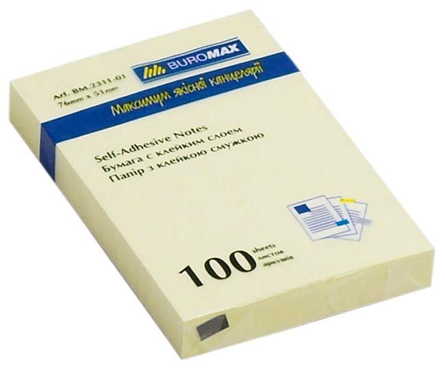 Блок бумаги с клейким слоем 51*76мм.*100 листов mix BuroMax - фото 2