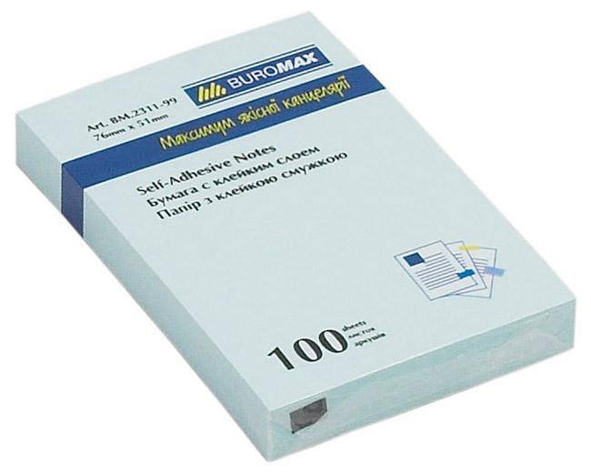 Блок бумаги с клейким слоем 51*76мм.*100 листов mix BuroMax - фото 3