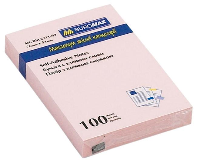 Блок бумаги с клейким слоем 51*76мм.*100 листов mix BuroMax - фото 4
