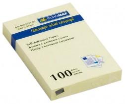 Блок бумаги с клейким слоем 51*76мм.*100 листов желт.