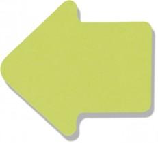 Блок бумаги с клейким слоем Стрелка 70*70мм.*50 листов неон.