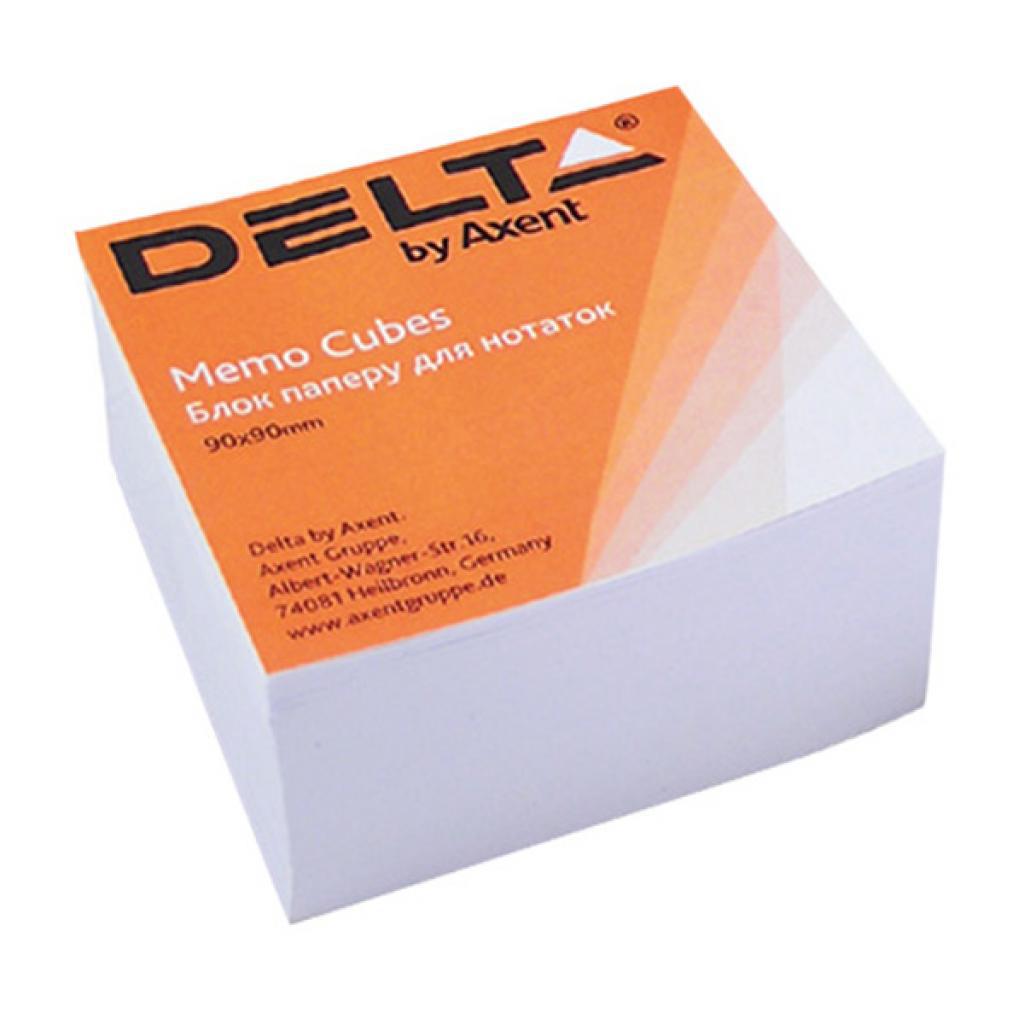 Блок для записи неклееный 90*90*30мм., Белый Delta - фото 1
