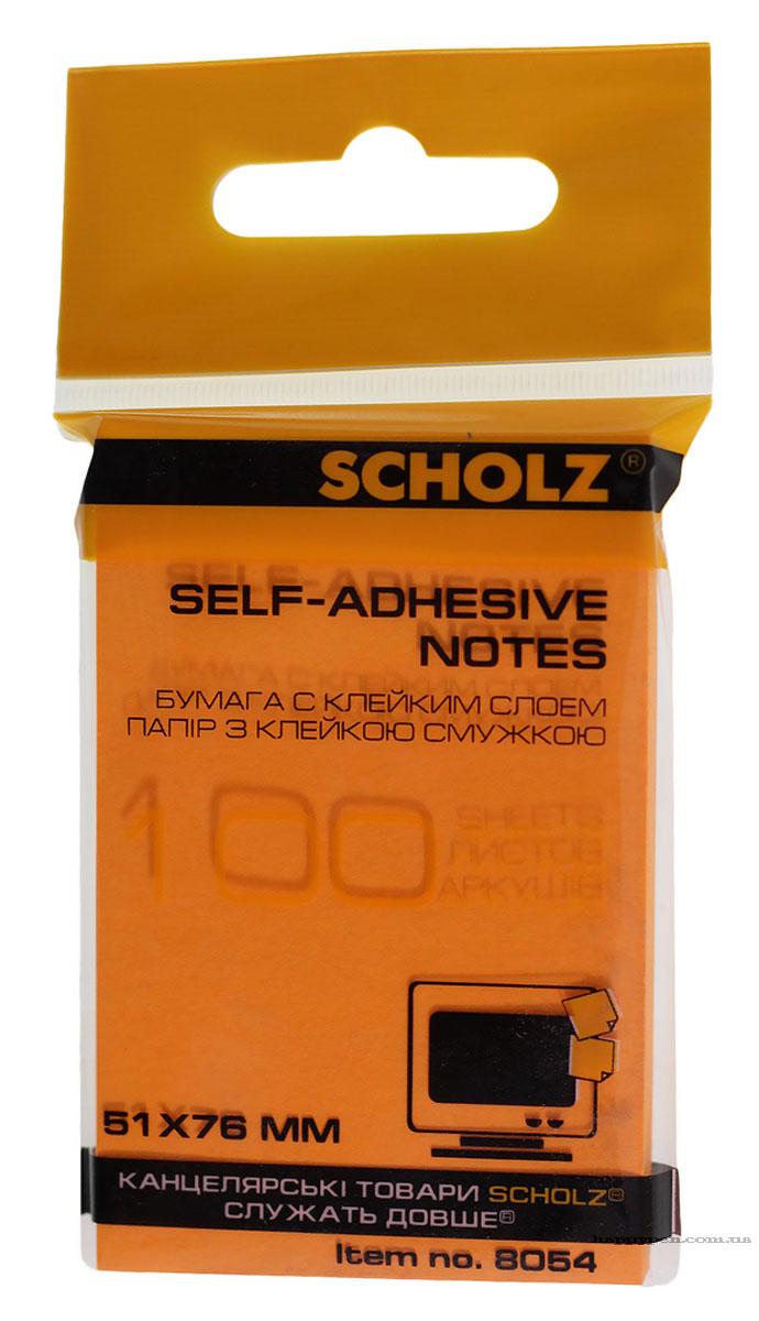 Блок бумаги с клейким слоем 51*76мм.*100 листов, неон., ассорт. Scholz - фото 2