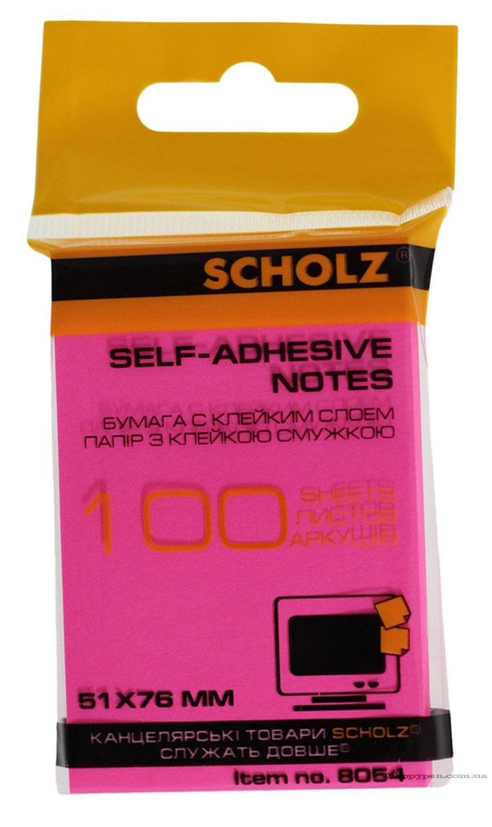 Блок бумаги с клейким слоем 51*76мм.*100 листов, неон., ассорт. Scholz - фото 3