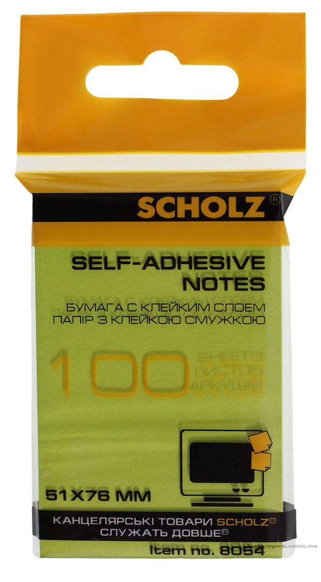 Блок бумаги с клейким слоем 51*76мм.*100 листов, неон., ассорт. Scholz - фото 4