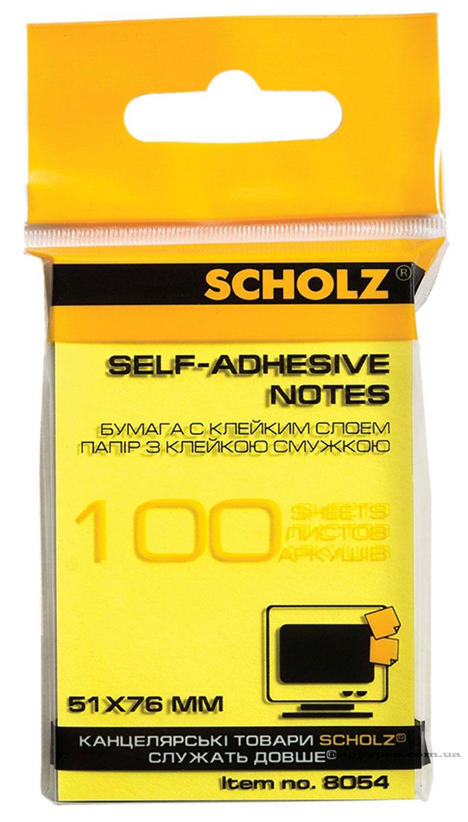 Блок бумаги с клейким слоем 51*76мм.*100 листов, неон., ассорт. Scholz - фото 5