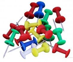 Кнопки столбики цветной пластик, карт. уп. 30шт. ассорт.