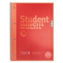 Колледж-блок А4 Premium, клетка, 80 листов, красн.