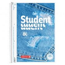 Колледж-блок А4 Premium, линейка, 80 листов, Jeans