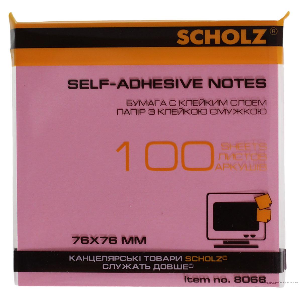 Блок бумаги с клейким слоем 76*76мм.*100 листов пастельный микс Scholz - фото 2