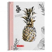 Колледж-блок А4 Premium, линейка, 80 листов, Pineapple