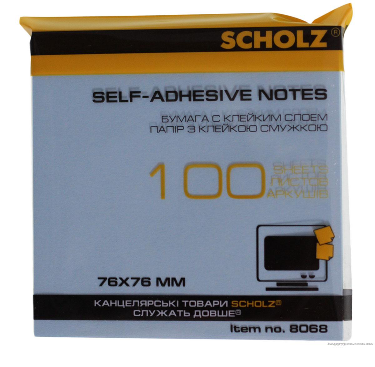 Блок бумаги с клейким слоем 76*76мм.*100 листов пастельный микс Scholz - фото 3