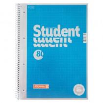 Колледж-блок А4 Premium, точка, 80 лист. метал. голубой