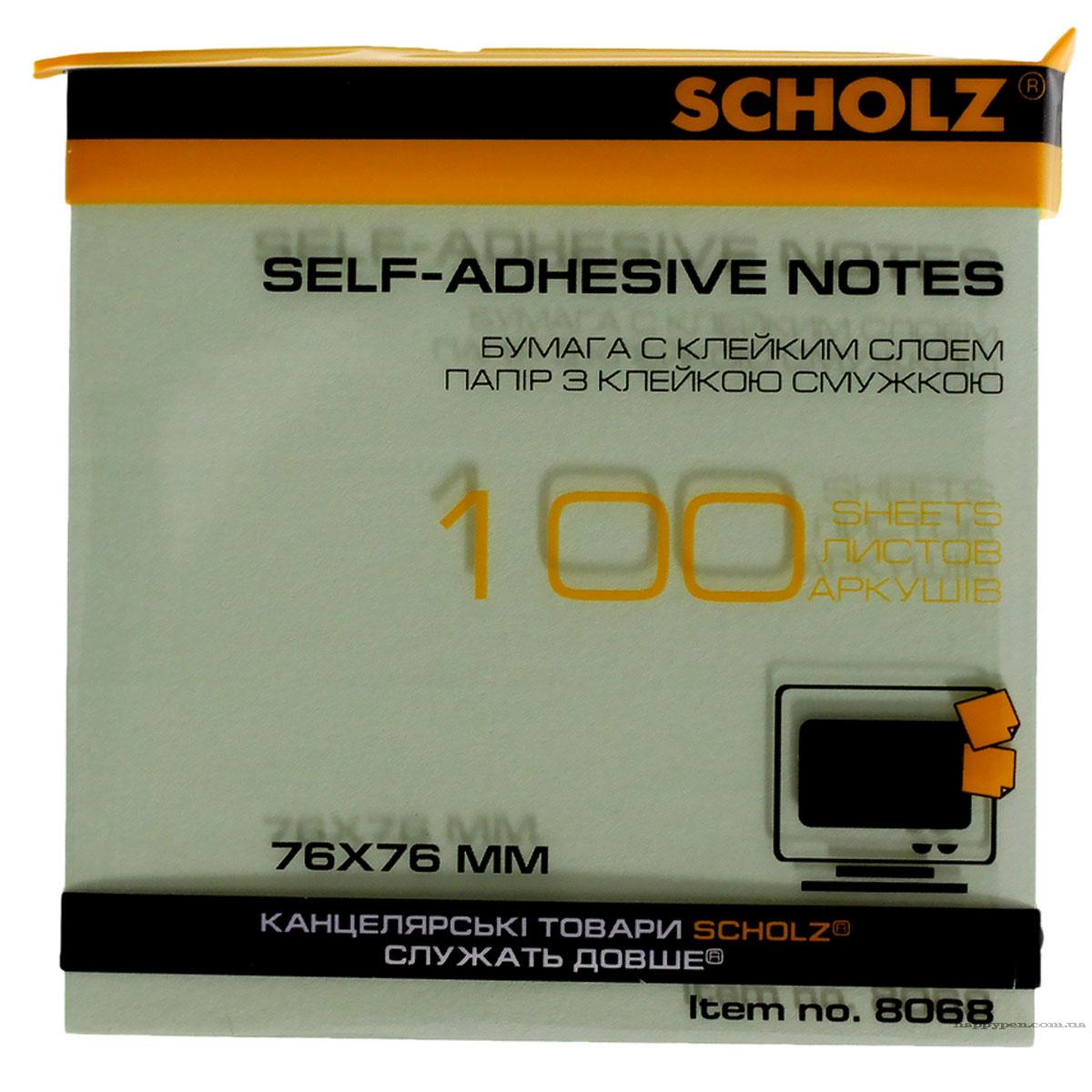 Блок бумаги с клейким слоем 76*76мм.*100 листов пастельный микс Scholz - фото 4