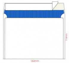 Конверт C6 114*162 отр. лента, фон, 80гр./м2. 100шт./уп., загрузка по длинной стороне