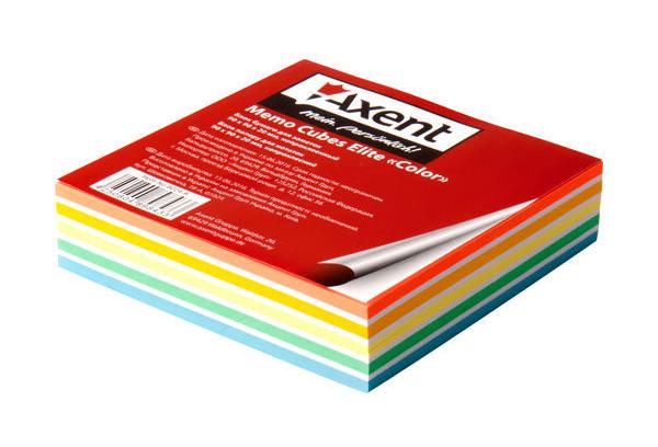 Блок для записи неклееный 90*90*20мм., Elite Color Axent - фото 1