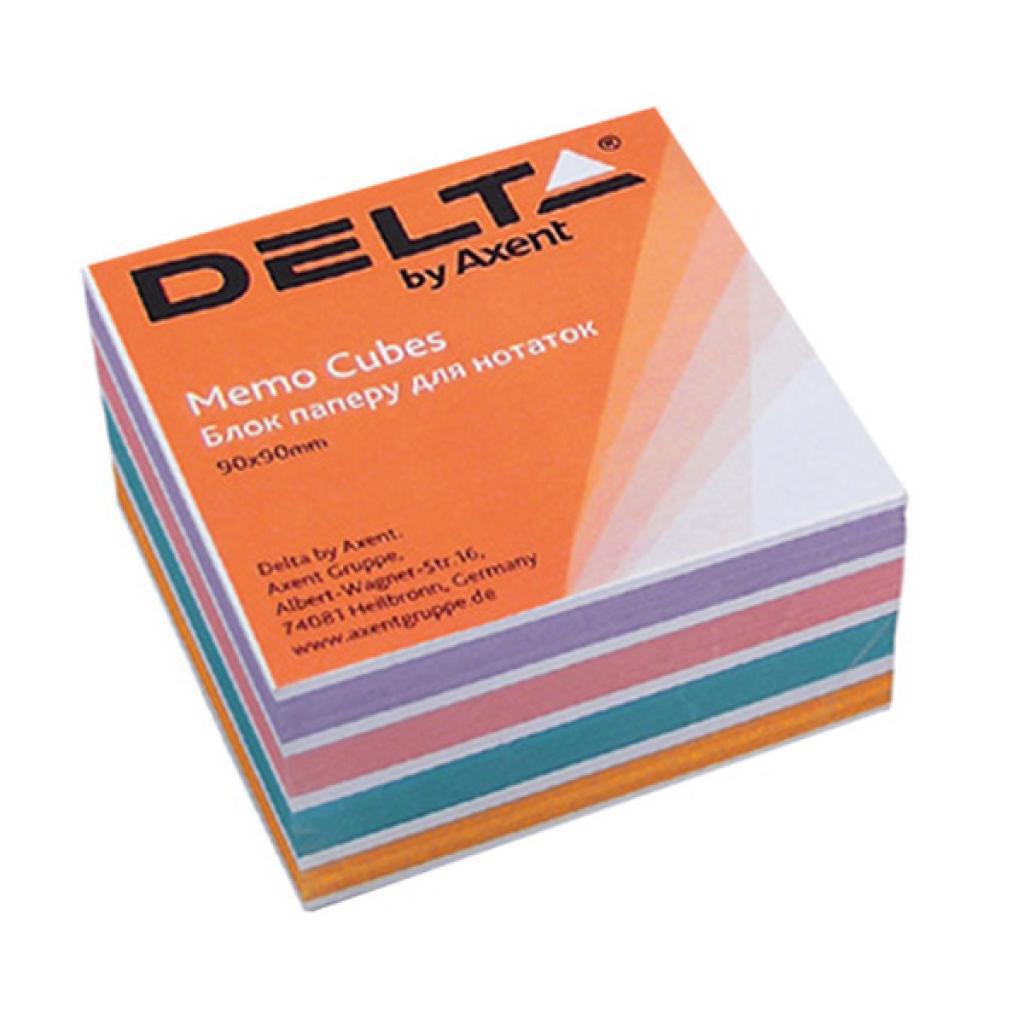 Блок для записи неклееный 90*90*30мм., Color Delta - фото 1
