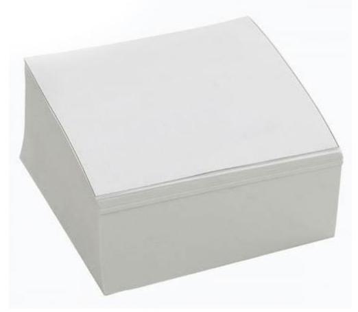 Блок для записи клееный 80*80*30мм., Белый, макулатурка Format - фото 1