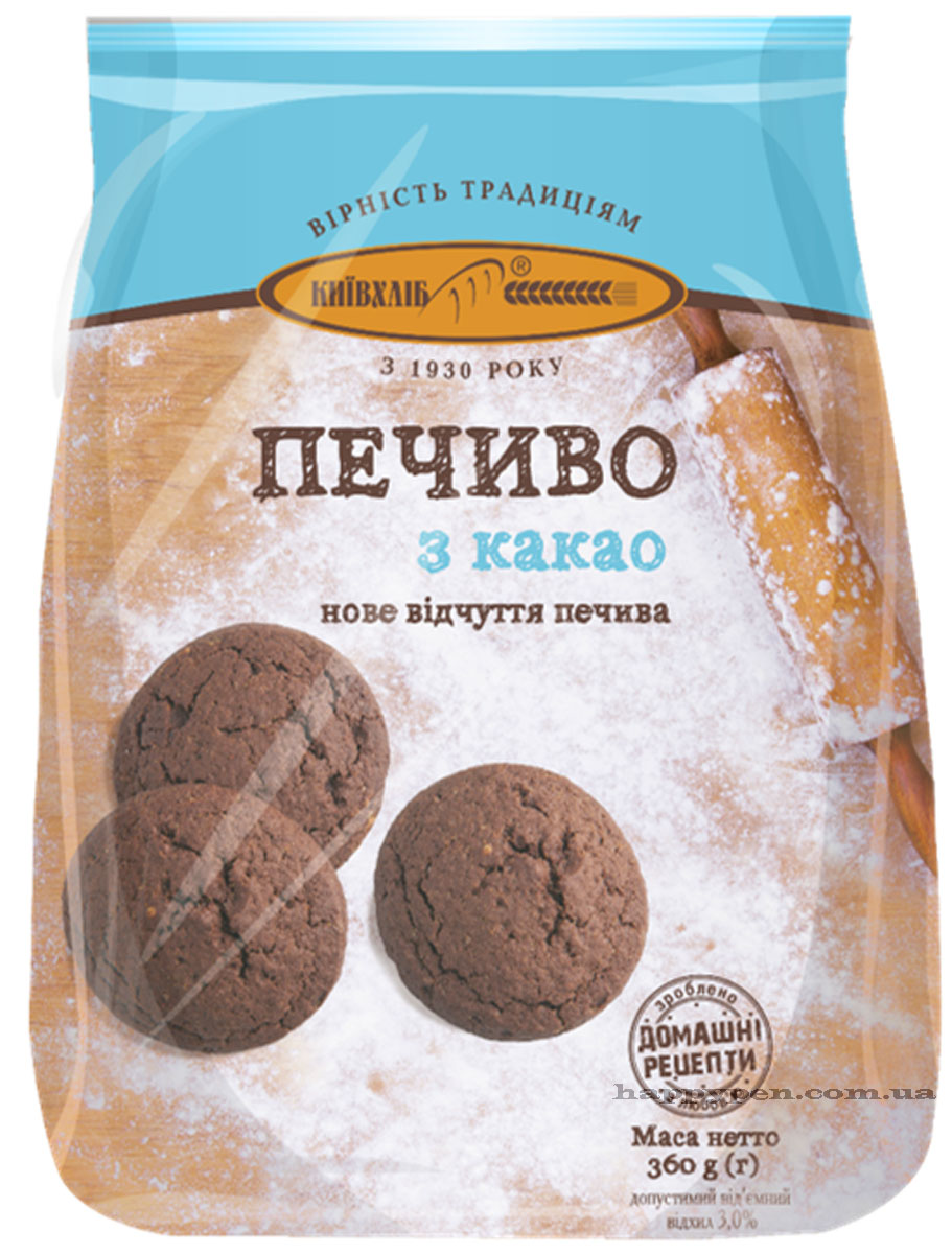 Печенье с какао, 360г. Киевхлеб - фото 1
