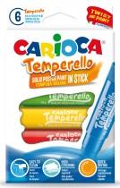 """Краски-карандаши 6цв. Temperello, """"крути и рисуй"""""""