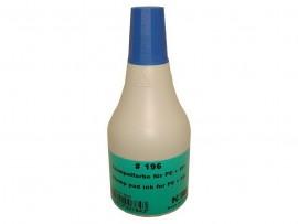 Краска штемпельная на спиртовой основе для пластика и полиэтилена 196 CB, 50мл., син.