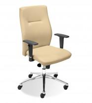 Кресло для руководителя Orlando R LE, кожа+хром